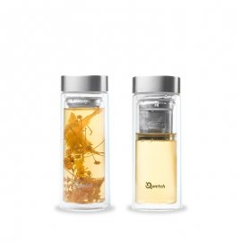 Infuse Qwetch flaska termos, glas, 320 ml