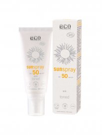 Sun spray Toned, Q10,  SPF 50, Ekologisk, 75 ml - Eco Cosmetic