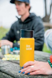 Klean kanteen 473 ml isolerad rostfri termos lemon curry
