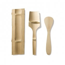 Ekologisk bambuslev, spatel, kitchen basic set