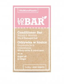 LoveBAR balsamkaka conditioner bar arganolja kakaosmör