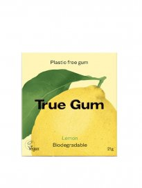 True Gum naturligt vegan tuggummi lemon citron