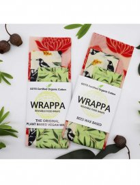 Wrappa Food wrap / naturlig folie, Vegan, 3pack, Waratah