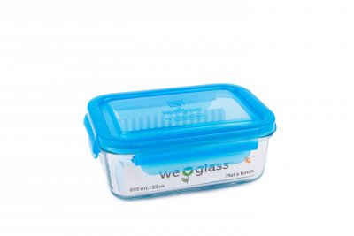 Wean Green Lunch Tube, Matlåda i glas, 695 ml - Blueberry