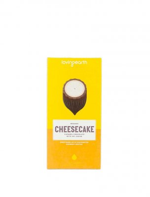 Loving Earth raw choklad lemon cheesecake