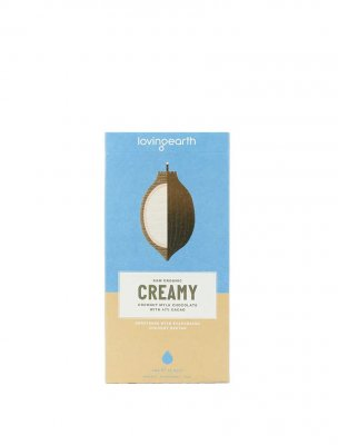 Loving Earth raw choklad creamy coconut
