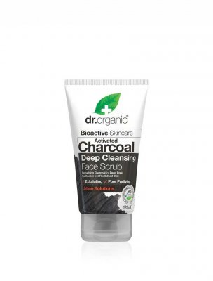 Dr Organic face scrub activated charcoal aktivt kol