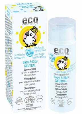 Eco Cosmetic Baby solkräm 50+ NEUTRAL 50m