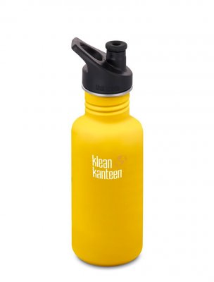 Klean Kanteen 532 ml rostfri flaska lemon curry