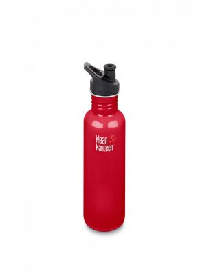 Klean Kanteen 800 ml rostfri flaska Mineral Red
