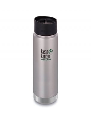 Klean kanteen 592 ml wide isolerad brushed steel