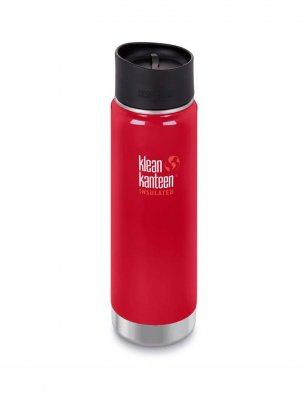 Klean kanteen 592 ml wide isolerad rostfri termos mineral red