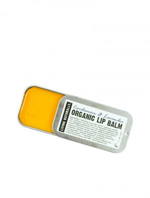 Lip balm vegan living naturally cardamom lavender
