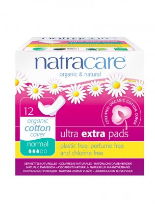 Natracare Binda Ultra extra Regular Ultratunn med vingar 14 st