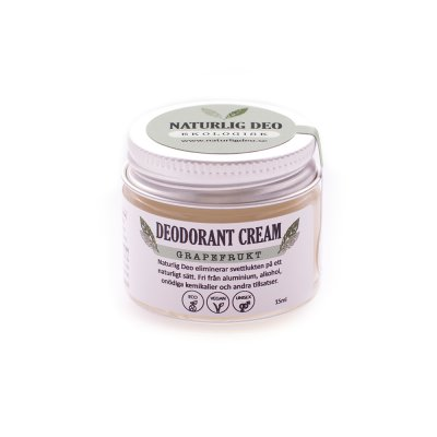 Ekologisk Deodorant Cream Grapefrukt 15 ml