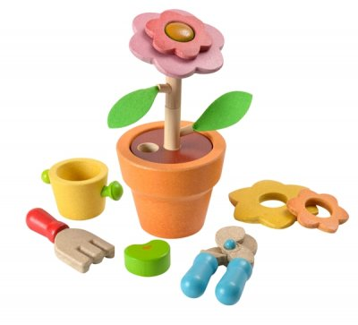 PlanToys byggsats blomma, flower set