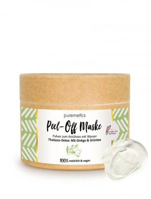 Puremetics naturlig peel-off mask detox green tea ginkgo