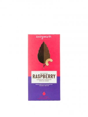 Loving Earth raw choklad raspberry