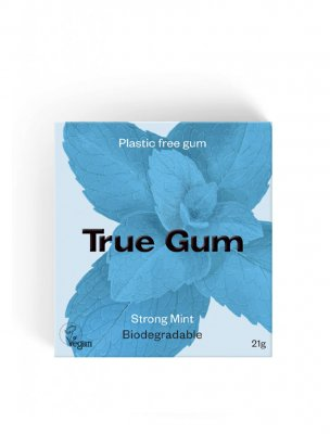 True Gum naturligt vegan tuggummi strong mint