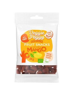Veggie peggy fruit snacks mango vegan ekologiskt