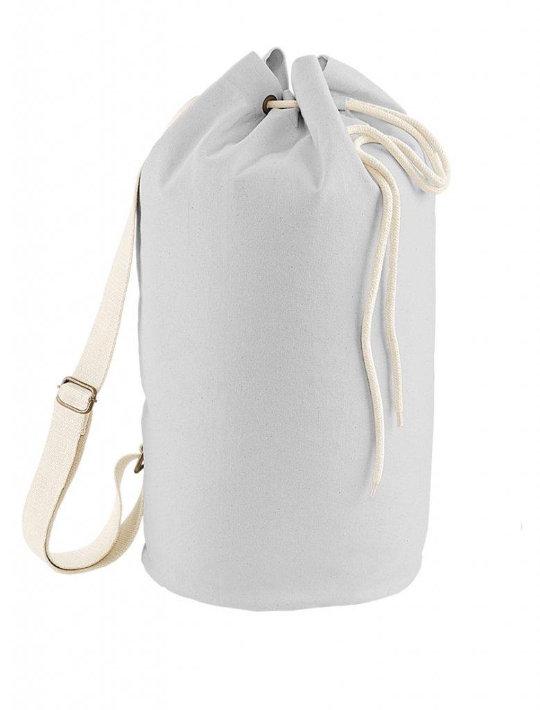 Westford Mill Ekologisk Navy Sea Bag packsäck i canvas, Light Grey, 20 liter